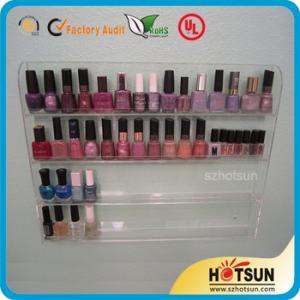 Buy cheap Clear Acrylic Nail Polish Wall Display Rack, custiomized tier nail polish rack product