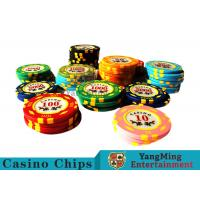 11.8g Texas Holdem Metal Casino Poker Chips Round Shape With 40mm Diameter