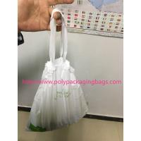 Buy cheap HDPE / LDPE Clear Drawstring Plastic Bags For Supermarket / Hospital product