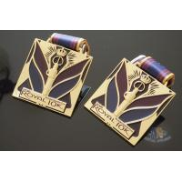 Buy cheap Royal 10K And 15K Custom Sports Medals Soft Enamel Color With Sublimated Ribbon from wholesalers