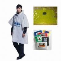 Buy cheap PE Waterproof Poncho, Various Sizes are Available product