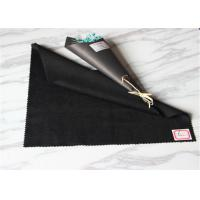 Buy cheap Anti Pilling Black Coating Wool Fabric Autumn Clothing Light Weight 150CM Width product