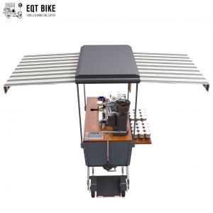 Buy cheap Outdoor Mobile Vending Coffee Bike Cart 48V With Stainless Steel Work Table product