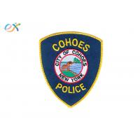 Buy cheap Polyester Material Police Embroidered Patch Size Customized With Iron On Backing product