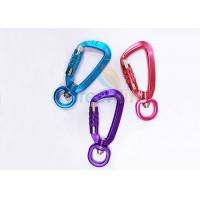 Buy cheap Colorful Aviation Aluminum Carabiner Clips Breaking Force 4KN Eco Friendly With from wholesalers