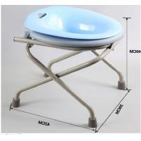 Buy cheap One Click Folding Common Sitting Adjustable Bath Seat High Carbon Steel Squat Free product