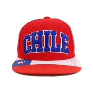 Buy cheap 3D Embroidery Red Flat Brim Snapback Hats Custom Symbol product