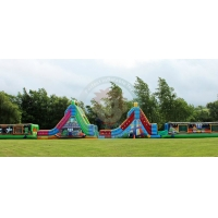 Buy cheap 30m length inflatable obstacle inflatable water obstacle game inflatable obstacle courses for sale product