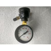 "Buy cheap 2 inch Black Steel Case Air Test Gauge with 3/4"" Bell Reducer Brass Material product"