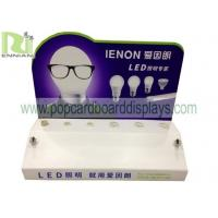 Buy cheap acrylic /plastic counter display for LED light with plug base for tester from wholesalers