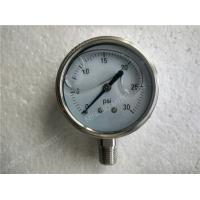 Buy cheap 2.5 inch All Stainless Steel Lower Entry  Liquid Filled Manometer Pressure Gauge Glycerine Filled product