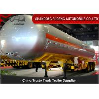 Buy cheap Auto Cylindrical LPG Tank Trailer With Ellipse Head  50cbm Three Axles product