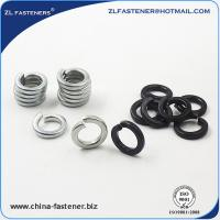 Buy cheap DIN127A High Tensile Washers Spring Lock Washer Yellow Zinc / White Zinc Plated product