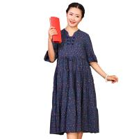 Buy cheap Custom Long Cotton Summer Dresses O Neck With Knee - Length Dresses Length product