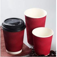 Buy cheap Tea / Water White Paper Cups Anti Moisture Penetration Gloss Surface Finish from wholesalers