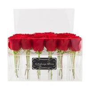 Buy cheap custom made cheap wholesale plastic rose acrylic flower box design product