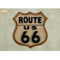 Buy cheap Classic Route US 66 Wall Signs Wooden Wall Plaques Antique MDF Pub Sign Wall Decor product