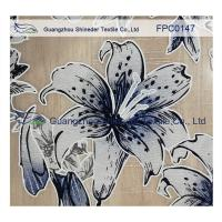 Buy cheap Lily pattern Burned out Lace Fabric Polyester&Cotton light and comfortable  for garment product