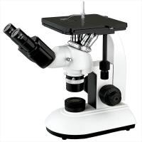Buy cheap Mechanical Stage Trinocular Inverted Metallurgical Microscope Infinity Optical System product