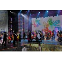 Buy quality High Gray Scale 16384 4500 Dot / M2 IP67 PH20mm Led Screen Rental Curtain Display at wholesale prices