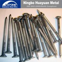 Buy cheap Durable Stainless Steel Nail Loop Tie Wire Nickel White For Industry Machinery product