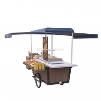 Buy cheap Steel Outdoor Mobile Street Food Vending Cart 2600W 220V product