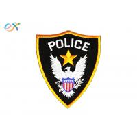 Buy cheap Polyester Background Fabric Police Embroidered Patch With Merrowed Edge product