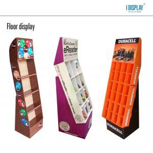 FSDU floor standing cardboard display stand for battery