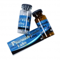 China Liquid Medicine Label Waterproof Die Cut Anti-counterfeit Holographic10ml Vial Steroid Label on sale