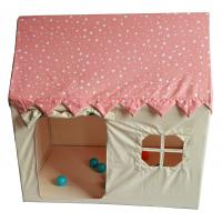 Buy cheap Polyester Tent House For Kids , 110x74x110cm Castle Play Tent Pink Color product