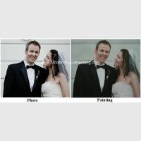 Buy cheap Canvas Custom Oil Painting Portraits From Photographs Hand Painted Wedding Portraits product