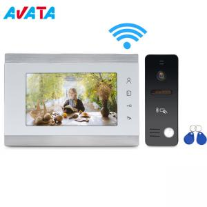 China AHD 1080P IP WiFi Wireless Video Doorphone Support APP Open The Gate on sale