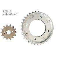 Buy cheap BIZ110 Motorcycle Chain And Sprocket Kit 33t-14t Metal Material Longer Usage Time product