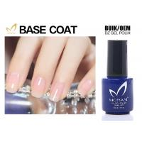 SGS Approved Uv Gel Base Coat , Clear Base Coat For Training School Chemical Free