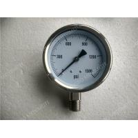 Buy cheap 4 inch All Stainless Steel Liquid Filled Gauges , Glycerine Filled Pressure Gauge product