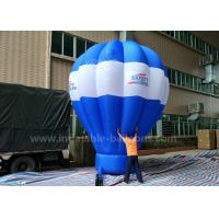 5m Tall Inflatable Advertising Ground Balloon / Hot Air Shaped Balloon For Events Manufactures
