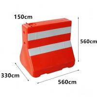 Buy cheap Red Water Road Barrier , Water Filled Bollards 560*140*350*560mm 3kgs Weight product