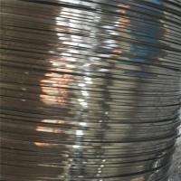 Buy cheap Soap Coated Stainless Steel Flat Wire Flat Metal Wire For Binding Carbon product