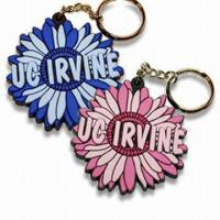 Buy cheap Flower Shaped Keychains, Various Styles are Available, Made of Soft PVC product