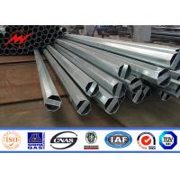Buy cheap 9 Meter Galvanized Steel Tubular Pole Steel Utility Poles ASTM A123 Standard from wholesalers