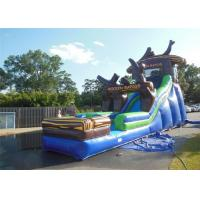 Buy cheap Wet Air Water Slide , Bounce House Water Slide Multicolors Entertainment Anti Uv product