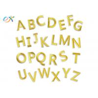 Buy cheap Gold A - Z Alphabet Letters Embroidered Letter Appliques DIY Merrow Border product