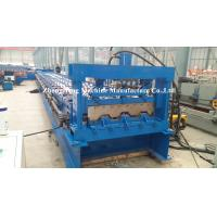 Buy cheap Galvanized Sheet Floor Deck Roll Forming Machine For Building Steel 11 kw + 11 from wholesalers