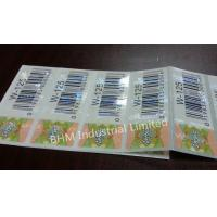 Waterproof 15 microns Anti - Counterfeit Sticker Security Label , Security Hologram Sticker Manufactures