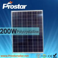 Buy cheap Prostar 12v 200w poly solar panel for home from wholesalers