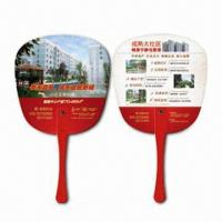 Buy cheap Hand Fans, Customer's Logos Printings are Available, Made of PP, Suitable for Promotional Purposes product