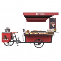 Buy cheap Stainless Grilled Food 50km/H BBQ Tricycle Hot Dog Cart product