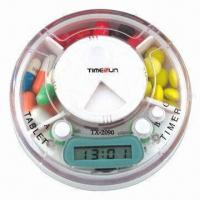 Buy cheap Pillbox Timer, 3 Compartments with Time and Alarm product