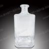 Square 750ML Small Whiskey Bottles For Luxury Liquor for sale