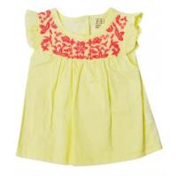Buy cheap Girls Summer Infant Baby Clothes Solid Top With Ruffle Sleeve Yellow Color product
